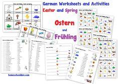 German Worksheets Easter Spring Ostern Fruhling