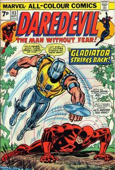 Daredevil and the Black Widow #113. The Gladiator is back.