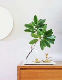 Living room details - second hand candle holders and Muuto-vase