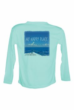 My Happy Place Long Sleeve UPF50 Performance Fishing Shirt.