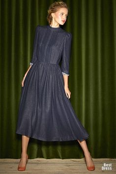 """looks suspiciously like the """"convent costume"""" (postulant) for Maria in """"Sound of Music"""" -- Ulyana Sergeenko Fall-Winter 2013 (2012/2013)"""