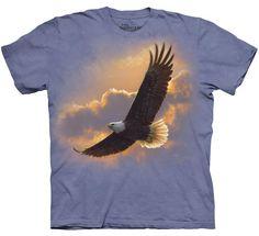 Flying American Bald Eagle T Shirt The Mountain Soaring Spirit Eagle Tee Nicolas Vanier, Eagle Animals, Eagle Design, Tee Shirts, Tees, Ink Color, Cotton Tee, Screen Printing, Classic T Shirts