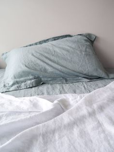 Dove S/W Linen Oxford Pillowcase Pair