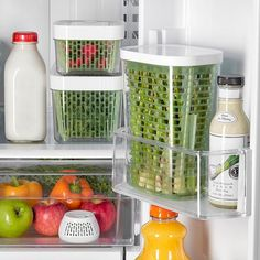 Stop throwing out produce. Food storage options to keep your food fresher longer. Product Shown: OXO Greensaver Herb Keeper Refrigerator Organization, Kitchen Organization Pantry, Diy Kitchen Storage, Kitchen Pantry, Kitchen Hacks, Kitchen Gadgets, Kitchen Decor, Kitchen Design, Pantry Ideas