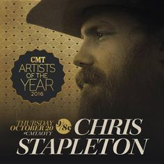 Congrats to Chris Stapleton for being nominated for CMT Artist of the Year!