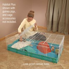 """Midwest designed the """"bigger is better"""" guinea habitat cage to meet the essential need for the appropriate amount of living space -allowing room to exercise, explore and socialize at will. The more sp Guinea Pig House, Pet Guinea Pigs, Guinea Pig Care, Pet Pigs, Chinchillas, Hamsters, Guinie Pig, Pig Habitat, Hedgehog Cage"""