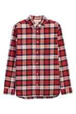 Flonelsskjorte Regular fit - Rød/Ternet - HERRE | H&M DK 2