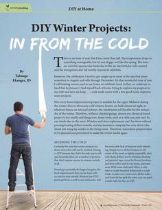 DIY Winter Projects: In from the Cold—By Talmage Ekanger, JD Molly Green - Winter 2015-2016 - Page 22-23