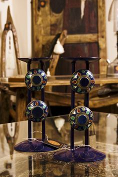#BadAdduja's UpCycled Creations #Furniture #Decor #Home #UpCycling #UpCycled #CandleHolder #OldRings #Art #Crafts
