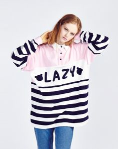 Lazy Oaf Lazy Girl Rugby Jersey #fashion #style #outfit