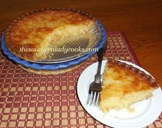 Pineapple Chess Pie - TSLC