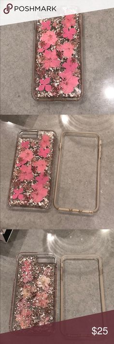 Casemate Karat Petals iPhone 6s 7 8 Plus Casemate Karat Petals for iPhone 6s/ 7/ 8 Plus.  Shade: Pink.  Made with genuine flowers and no two cases are alike!  Case is in great condition with no damage to the integrity of the product or defects.  Case has some minor signs of wear- discoloration to the clear bumper and a minor scratches on the back of the case as well as a major scratch on the top of the plastic case.  These scratches do not affect the case's ability to protect the phone…