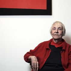 """CARMEN HERRERA: After six decades of no one showing any interest in her paintings Carmen Herrera finally sold her first work when she was 89. She's now 96 with works in the collections of MoMA and Tate Modern. """"I never in my life had any idea of money and I thought fame was a very vulgar thing. So I just worked and waited. And at the end of my life, I'm getting a lot of recognition, to my amazement and my pleasure, actually."""""""