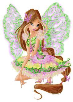 Flora Butterflix - Winx Club 7 by FashionZambara on DeviantArt Winx Club, Winx Magic, Les Winx, Flora Winx, Group Poses, Art Drawings Sketches Simple, Stock Art, Princess Zelda, Disney Princess