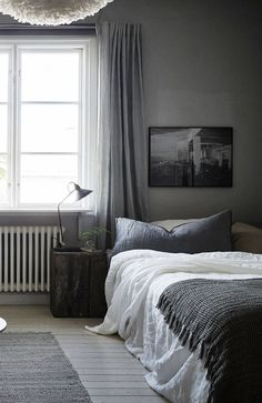 Cozy grey home - via cocolapinedesign.com
