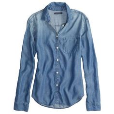 American Eagle Factory Chambray Shirt found on Polyvore