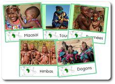 cartes de nomenclature aux couleurs de l'Afrique montessori!