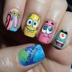Crazy Nail Art, Crazy Nails, Pretty Nail Art, Cute Nail Art, Best Acrylic Nails, Acrylic Nail Designs, Nail Art Designs, Nail Designs For Kids, Nails Design