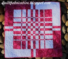 Quilt Fabrication: Pink Lattice from Ricky Timms