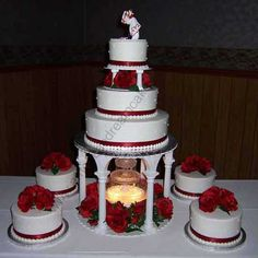 wedding cakes with fountains | Wedding cake with stairs-fountains 01