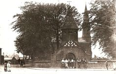 I really like this picture of the lychgate and St Clement's Church at Chorlton Green before the Church was demolished.