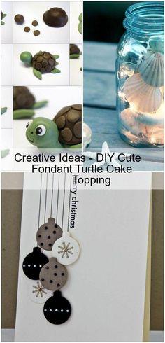 Creative Ideas – DIY Cute Fondant Turtle Cake Topping - Home & Women Fondant, Blackberry Recipes, Cupcake Birthday Cake, Bowl Cake, Vanilla Sugar, Cake Toppings, Diy Paper, Quick Easy Meals, Diy Art