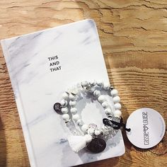 Marble stone bracelets by Cassie Louise Designs | Marble notebook by The Paper Bunny | A Good Space | Melbourne
