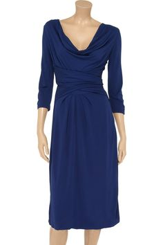 Issa Draped crepe-jersey dress - 49% Off Now at THE OUTNET