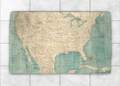 North America Map Accent Rug – Laural Home