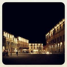 Cesena, Piazza del Popolo by night - Instagram by berenguez