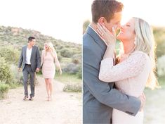 Dreamy engagement session in the desert