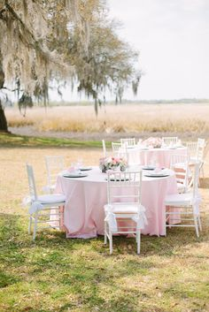 A nice outdoor baby shower. Perfect for spring.