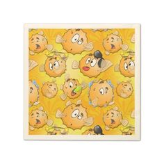 Funny kids napkins with Puff Standard Cocktail Napkin