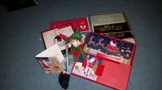 Elf on the shelf writing Christmas Cards