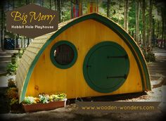 """Oversized by typical playhouse standards, the 10' x 6' """"Big Merry"""" is our most popular playhouse design."""