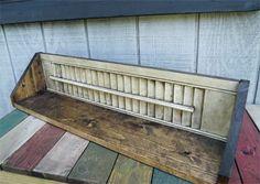 Primitive Wood Shutter Shelf