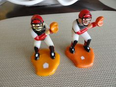 A421  Vintage Baseball Catcher Cake Topper by ABGGoodStuff on Etsy
