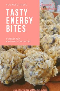 You want the recipe for these tasty energy bites. They're delicious and perfect for a busy mom who needs to … Breastfeeding Nutrition, Breastfeeding And Pumping, Breastfeeding Toddlers, Good Food For Breastfeeding, Breastfeeding Problems, Lactation Recipes, Lactation Cookies, Lactation Foods, Low Milk Supply