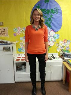 Great blog for CUTE teacher outfit ideas! No scary looking vests :)