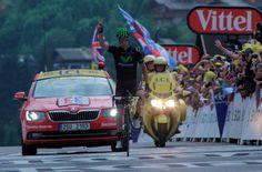 PARABENS de novo para @RuiCostaCyclist o companheiro do @alexdowsett em sua segunda victoria de etapa #TDF
