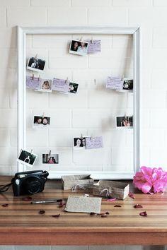 DIY Polaroid Geschenk Gästebuch-Bild