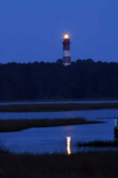 Chincoteague Island watching the lighthouse and ponies