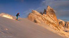 Sunshine & powder snow after the storm...  Seceda (Val Gardena) - 26/12/2012 - 16.15 h  Rider: Diego Moroder
