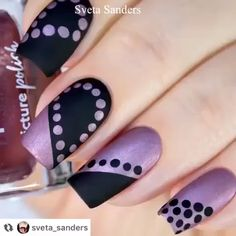 Super easy and beautiful matte dot nail art By: sveta sanders Nail art designs, be inspired by the super leading nail post suggestion ref 3505367005 for one amazingly eye catching nails. Nail Art Doré, Nail Art Hacks, Nail Arts, Nail Nail, Panda Nail Art, Leopard Nail Art, Diy Nails, Cute Nails, Pretty Nails
