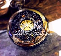 Wedding Gift Set Personalized Pocket watch Engravable Mechanical Black – PocketWatchKeepsakes