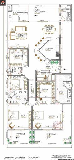 Projeto Arquitetônico: Casa Campo Grande U2022 Cód. 110 U2022 R$ 1.050,00 | Campo  Grande Part 94