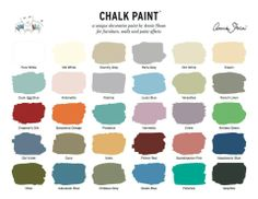 Annie Sloan chalk paint colors...maybe duck egg blue?