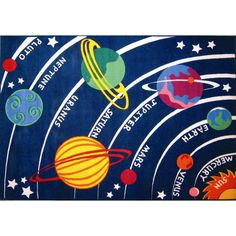 FREE SHIPPING! Shop Wayfair for Fun Rugs Fun Time Solar System Classroom Area Rug - Great Deals on all Decor products with the best selection to choose from!