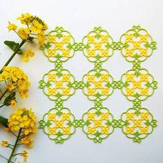 菜の花のドイリー work:2016 pattern:original…