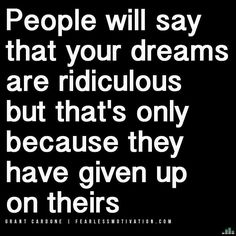 """Via @ablazeaway NEVER GIVE UP on your dream! Regardless of others opinions. You are the ONLY ONE that knows what is possible for YOU! DOUBLE TAP if you agree! TAG FRIENDS! TAKE your workouts and LIFE to the NEXT LEVEL with the NUMBER ONE motivational music albums on iTunes Spotify and Google Play! 10 million plus streams - LISTEN FREE NOW: Link in bio @fearlessmotivationofficial or search """"FEARLESS MOTIVATION""""    #FearlessMotivation  #Globalshift #motivationalquotes #quoteoftheday…"""